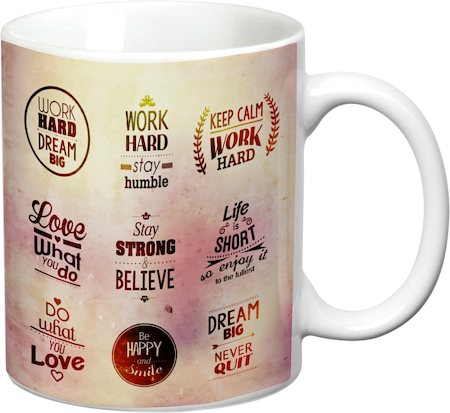 Prithish Motivational Design 2 White Mug