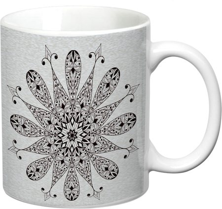 Prithish Abstract Design 15 White Mug