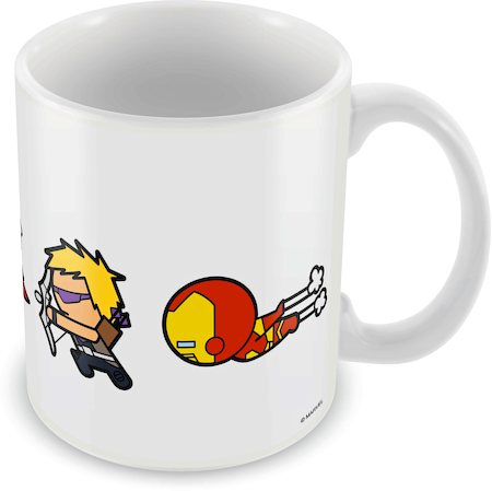 Marvel Kawaii Cast Run Ceramic Mug