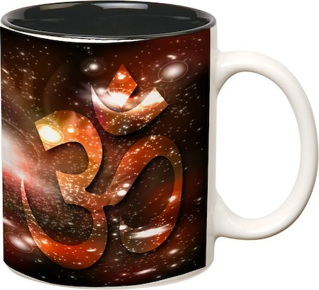 Prithish Om Black Mug