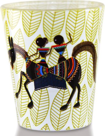Kolorobia Classic Warli Shot Glass, 30 ml - set of 2