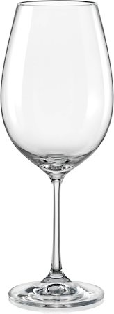 Bohemia Crystal Club Wine Glass, 550 ml - set of 6