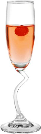 Ocean Salsa Flute Champagne Glass, 165 ml - set of 6