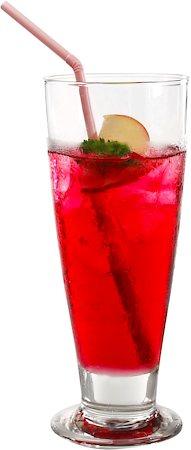 Ocean Tiara Footed Refreshing Drink Glass, 395 ml - set of 6